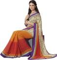Ishya Printed Art Silk Sari - SARDUER3AR77YDXW