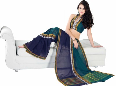 Ishin Solid Cotton Sari available at Flipkart for Rs.809