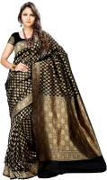 Asavari Self Design Embellished Georgette, Art Silk Sari