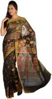 9rasa Striped, Floral Print Organza Sari