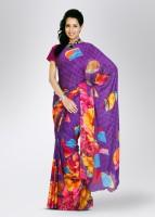 Satrang Printed Georgette Sari