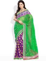 Soch Floral Print Synthetic Sari