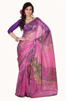 De Marca Striped Net Sari