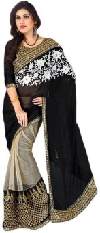 Temptingg Fashions Embriodered Bollywood Georgette, Net Sari