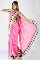 Bhavish Solid Crepe, Jacquard Sari