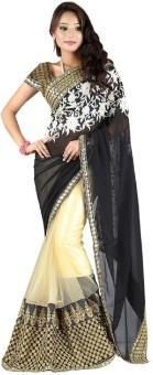 Bollywood Designer Self Design Bollywood Georgette, Net Sari