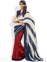 Vishal Geometric Print Silk Sari