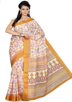 Saree Swarg Printed Art Silk Sari - SARE362C4Q2YCFA7