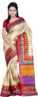 Anju Sarees Self Design Bhagalpuri Silk Sari
