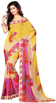 Sangam Saree Floral Print Fashion Georgette Sari