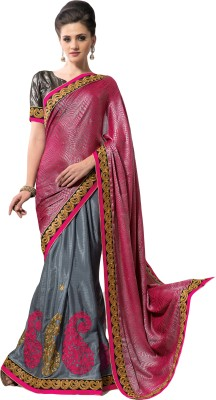 MS Retail Self Design Fashion Crepe, Jacquard Sari