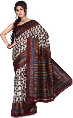 Saree Swarg Printed Art Silk Sari