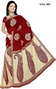 Anand Sarees Self Design Daily Wear Printed Silk Sari