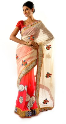 Shree Saree Kunj Self Design, Solid Bollywood Brasso, Georgette Sari available at Flipkart for Rs.4199