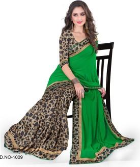 Indianbeauty Solid, Printed Bollywood Chiffon, Printed Silk Sari