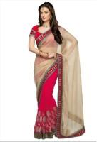 Fashionista Printed Embellished Georgette, Tissue Sari