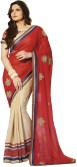 Aarti Saree Embriodered, Self Design Fashion Georgette Sari
