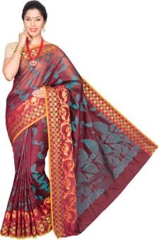 Pavechas Self Design Banarasi Cotton, Silk Sari
