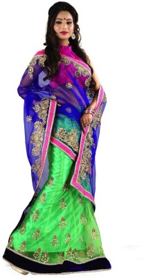 Bollywood Designer Self Design Lehenga Saree Net Sari