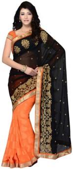 Sareeka Sarees Floral Print, Embriodered Bollywood Georgette Sari