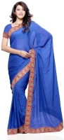 Dealtz Fashion Solid Chiffon Sari