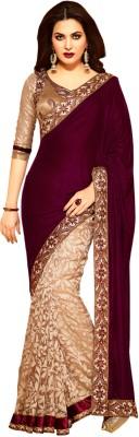 Compare Fashion And Hub Self Design Fashion Brasso Sari at Compare Hatke
