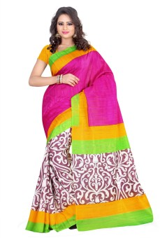 Esk Fashions Self Design Bollywood Handloom Art Silk Sari - SARE7DUFCJZGJBYN