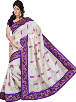 Shri Sarees Printed Fashion Cotton, Silk Sari