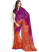 Vishal Floral Print Synthetic Sari