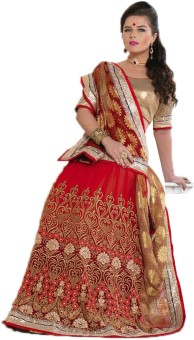Kuons Avenue Embellished, Embriodered, Self Design, Woven Lehenga Saree Art Silk, Georgette, Jacquard, Brocade, Brasso Sari available at Flipkart for Rs.3499
