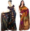 Sunaina Printed Art Silk Sari - SARDTX45GE2X8GZ6