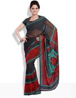 Satrang Geometric Print, Printed Synthetic Sari