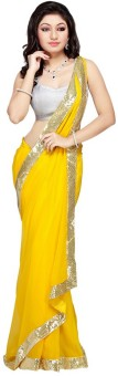 Ak Silk Mills Self Design Bollywood Georgette Sari