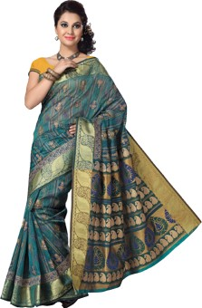 Saree Swarg Printed Bollywood Cotton Sari