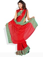 Florence Striped, Printed, Floral Print Synthetic Sari