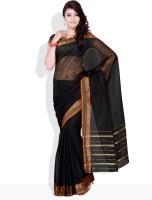 Urban Vastra Floral Print, Striped, Geometric Print Cotton Sari