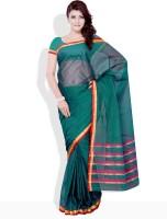 Urban Vastra Floral Print, Geometric Print Cotton Sari