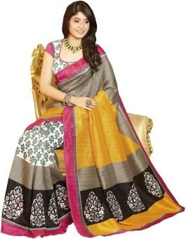 Glory Sarees Floral Print Bhagalpuri Art Silk Sari