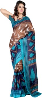 Mamta Sarees Printed Bhagalpuri Pure Silk Sari
