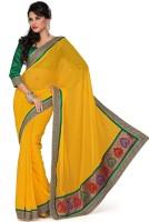 Saree Swarg Solid, Printed Embroidered Embellished Chiffon Sari