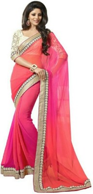 Meera Saree Self Design Bollywood Chiffon Sari
