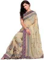 Mehak Floral Print Embroidered Georgette Sari
