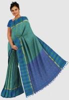 Pothys Printed Embellished Silk Sari