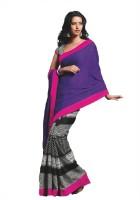 Taanshi Printed Jacquard, Art Silk Sari
