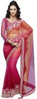 Fashionista Printed Embellished Net Sari