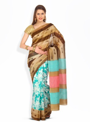 Get best deal for Satrang Printed Art Silk, Synthetic Sari at Compare Hatke