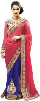 Admyrin Self Design Embroidered Embellished Crepe, Jacquard, Georgette Sari (Pack Of 2)