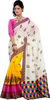 Lineysha Boutique Printed Bhagalpuri Art Silk Sari