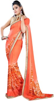 Click Sarees Self Design Embellished Georgette Sari