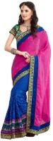 Fashionista Printed Embellished Art Silk Sari